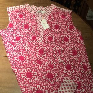 Bright Pink and White Vineyard Vines NWT Shift